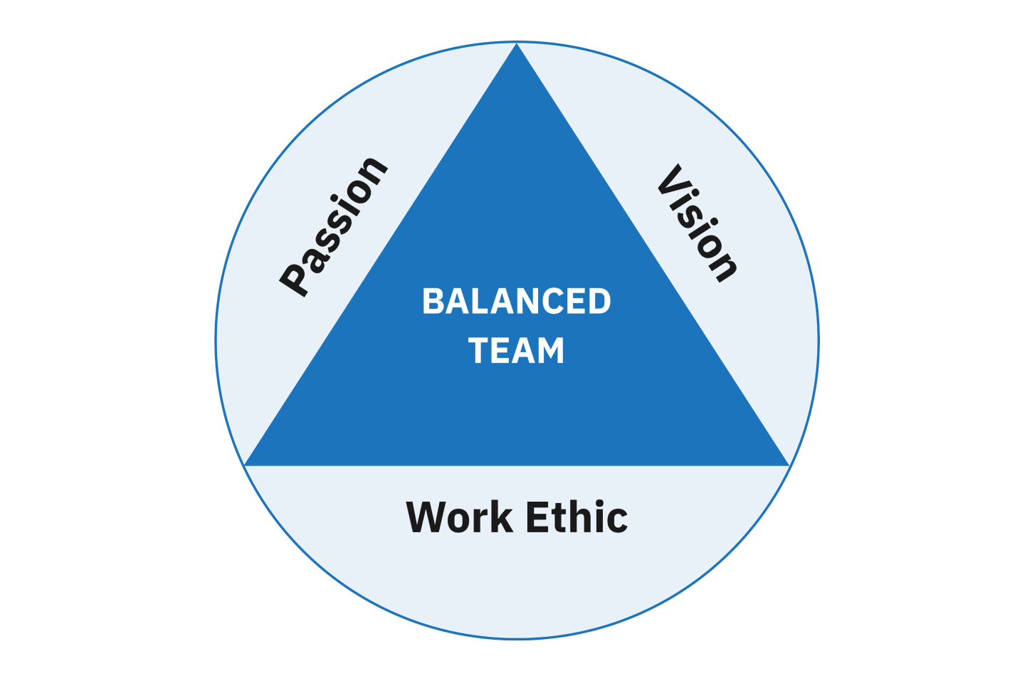 A shared passion, vision, and work ethic is essential to build and maintain optimal team performance