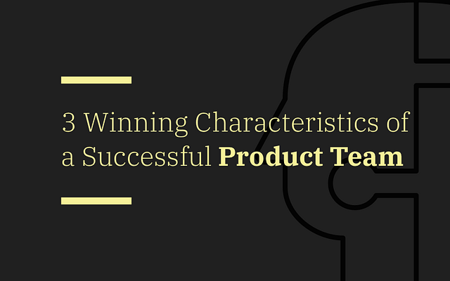 3 Winning Characteristics of a Successful Product Team